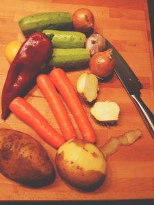 Πουρές λαχανικών, λαχανικά