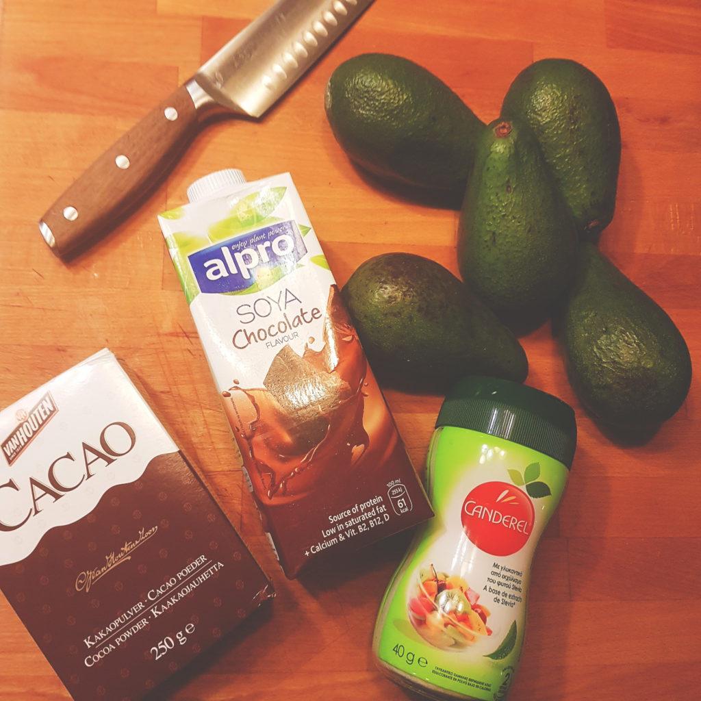 μούς αβοκάντο σοκολατα