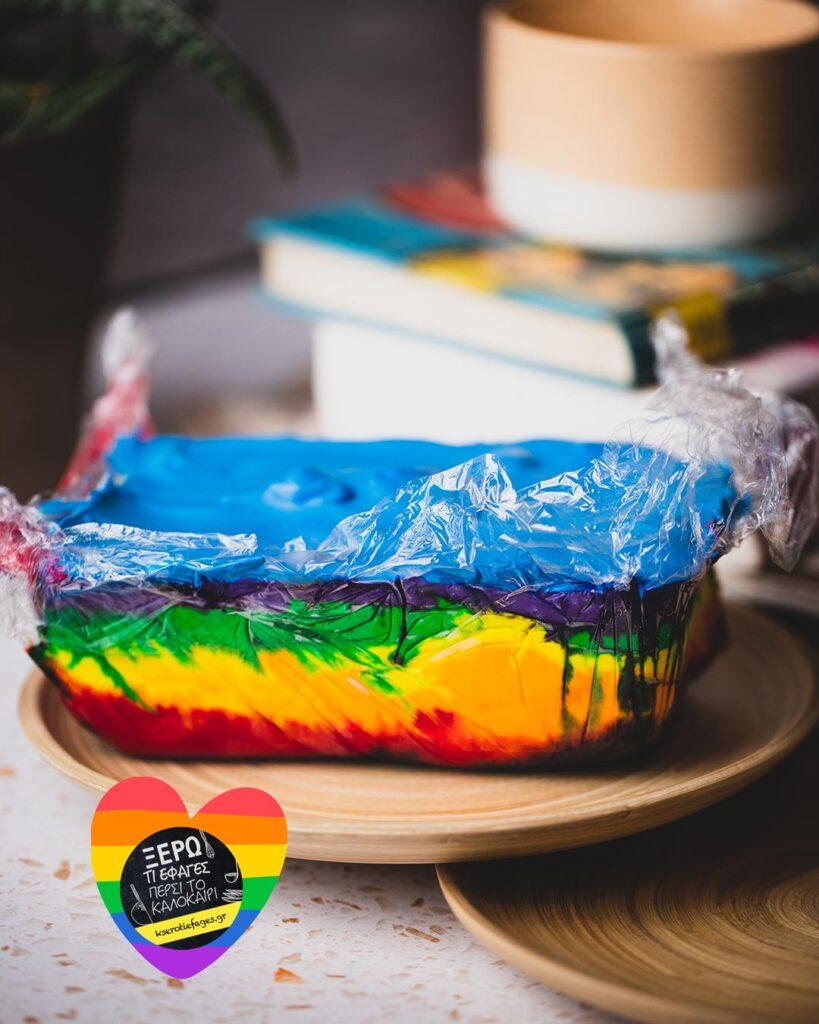 Τούρτα Παγωτό Rainbow
