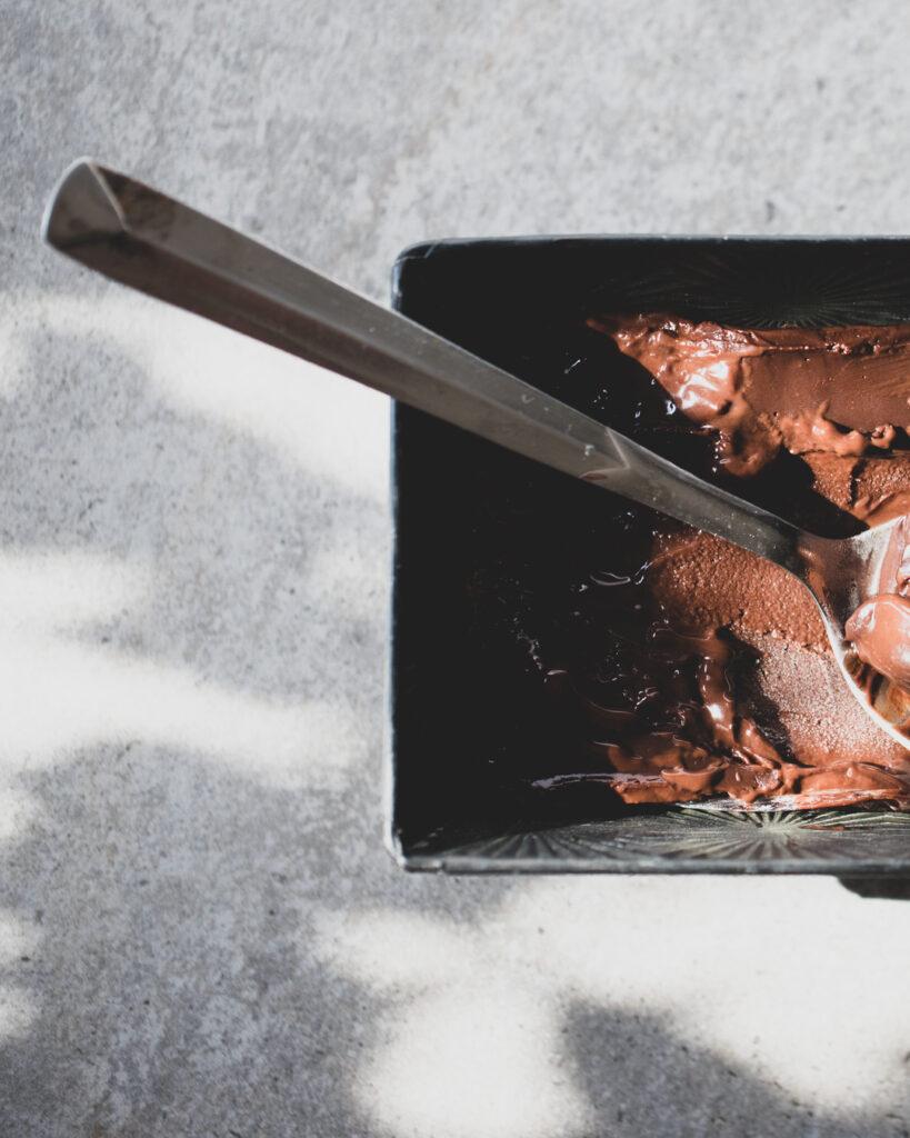 gelato σοκολατα ρουμι